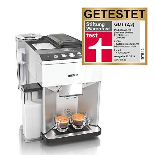 Siemens TQ507D02 EQ.500 integral Kaffeevollautomat, einfache Bedienung, integrierter Milchbehälter, zwei...