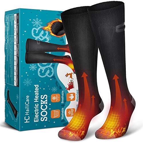HailiCare Beheizte Socken, Elektrische Warme Socken, wiederaufladbare 3,7 V 4000 mAh Batterie Thermische...
