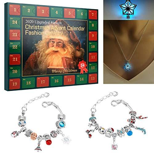 Adventskalender, Weihnachts-Adventskalender, Adventskalender 2021 DIY Armbänder Schmuck,...