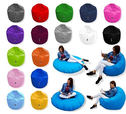 Patchhome 2 in 1 Funktion Sitzsack Sitzkissen Bean Bag - Schwarz - 100cm Durchmesser in 25 Farben und 3...