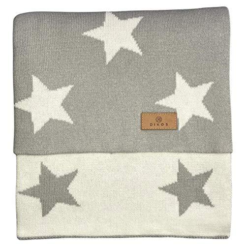 Babydecke Baumwolle Sterne grau - aus 100% GOTS BIO Baumwolle (kbA kontrolliert biologischer Anbau)...