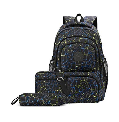 CUIBIRD Schulrucksack Jungen Schultasche Jugendliche Nylon Rucksäcke Schule Wasserfest Backpack Laptop...