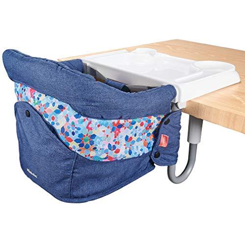 Mosbaby Faltbar Baby Tischsitz mit rutschfestem Clip, Essteller, Tragbarer Esszimmerstuhl mit Transportbeutel,...