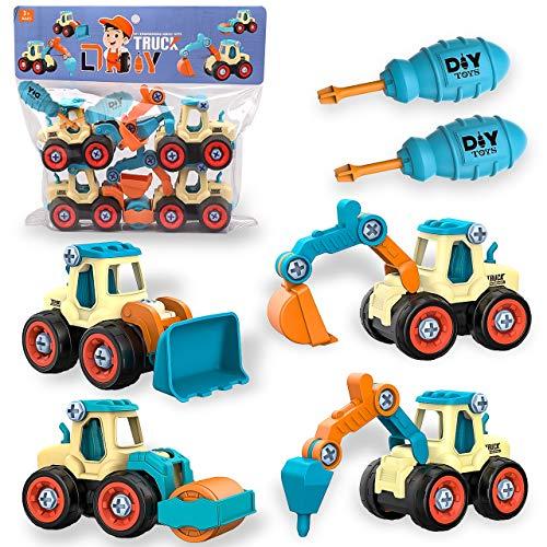 Bagger-Spielzeug 'DIY Baufahrzeuge' von aovowog
