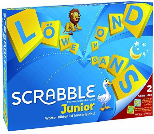 Mattel Games Y9670 - Scrabble Junior Wörterspiel und Kinderspiel, Kinderspiele Brettspiele geeignet für 2 -...