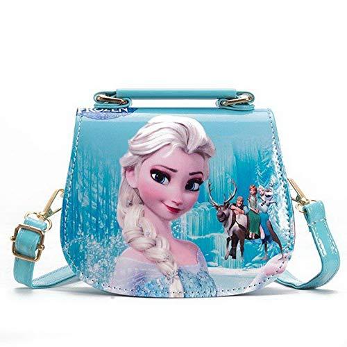 Fancyland Elsa Mädchen Taschen Frozen 2 Eiskönigin Kinder Umhängetasche mit Anna und ELSA 2 Spielzeug...