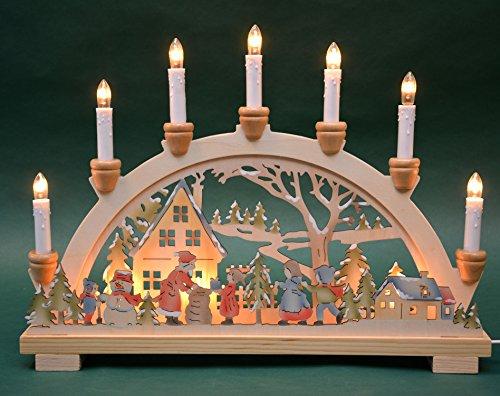 Schwibbogen Lichterbogen 'Bescherung' 10flammig innenbeleuchtet farbig Weihnachten Advent Geschenk Dekoration...