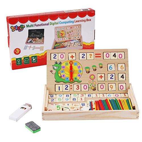 BBLIKE Montessori Mathe Spielzeug, Spielzeug Doodle aus Holz Zeichnung, Zeichnung Holzbrett Spielzeug...