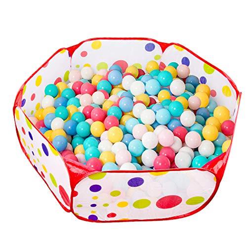 MOOKLIN ROAM Baby Bällebad, Faltbar Ballpool Bällepool, Φ1.2M Pop Up Zelt Kinderspielzelt mit...