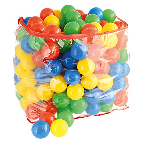 Bieco Bälle für Bällebad | 250 Stück, Größe ca. 6 cm | Bunte Bälle | Kinder Bällebad Bälle | Plastic...