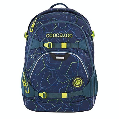 coocazoo Schulrucksack ScaleRale Laserbeam Blue blau, ergonomischer Tornister, höhenverstellbar mit Brustgurt...