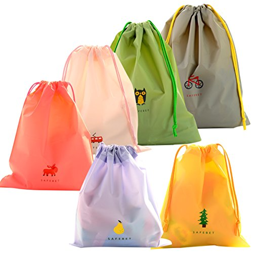 EASEHOME 6 Pcs Turnbeutel Sportbeutel, wasserdichte Drawstring Bag Polyester Kordelzugbeutel Kinder Taschen...