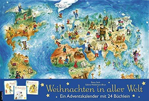 Weihnachten in aller Welt: Adventskalender mit 24 Büchern (Adventskalender mit Geschichten für Kinder / Mit...