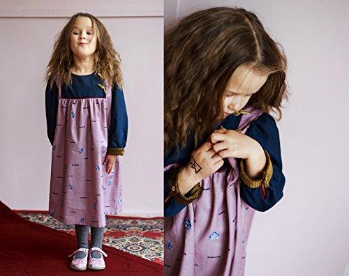 Kariertes Mädchenkleid aus Wolle, Großen 3-10 Jahren alt