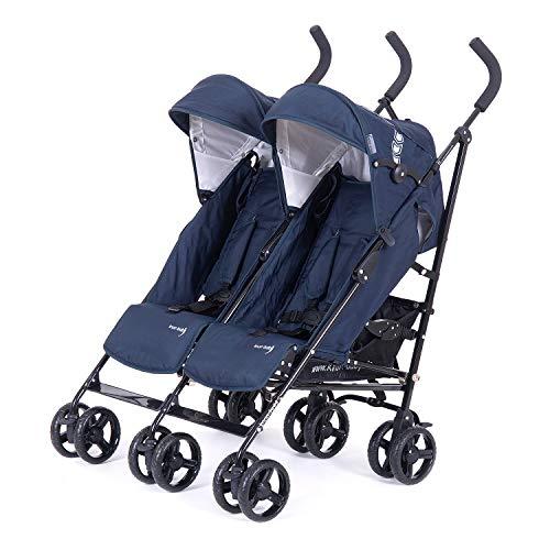 knorr-baby 832200 Geschwisterwagen Side by Side, Blau