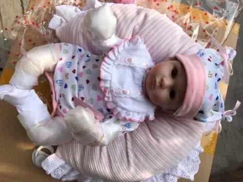 iCradle Schöne 17Zoll 43cm Weiches Silikon Lebensechte Puppen Babys Handgemachtes Reborn Baby Mädchen...