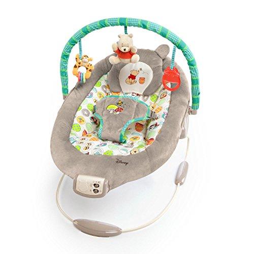 Disney Baby, Winnie Puuh Wippe mit Vibrationen, Automatischer Ausschaltfunktion, Melodien, Lautstärkeregler,...
