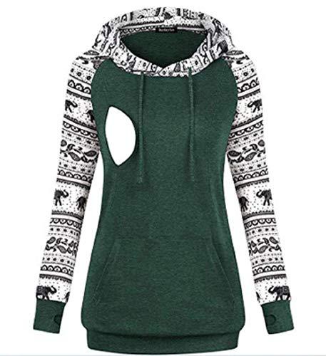 BEUHOME Umstandsmode Damen Winter Herbst Hoodies Stillpullover Langarm Pullover Umstandspullover Stilltop...
