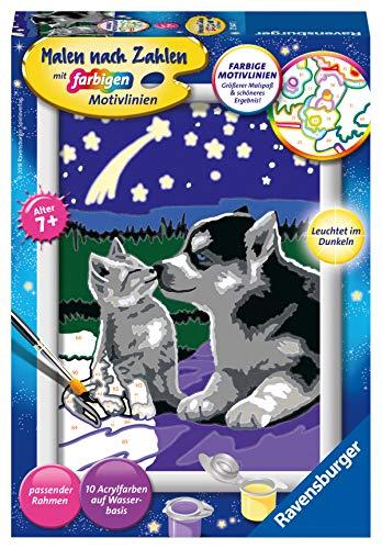 Ravensburger Malen nach Zahlen 27847 - Hund und Katze - Für Kinder ab 7 Jahren