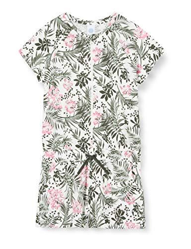 Sanetta Mädchen Overall kurz Einteiliger Schlafanzug, Grün (grün 4991), (Herstellergröße:128)