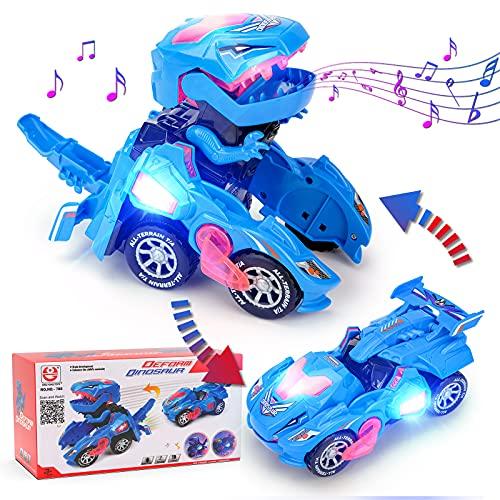 Geschenk Junge 4 5 6 7 Jahre, Cars Spielzeug ab 6-8 Jahren Spielzeugauto Dinosaurier Spielzeug Kinder...