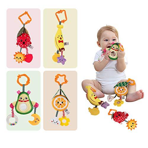 TUMAMA Babyspielzeug 6 Monate Soft Rassel Kinderbett Kinderwagen Kinderwagen Spielzeug für Neugeborene...