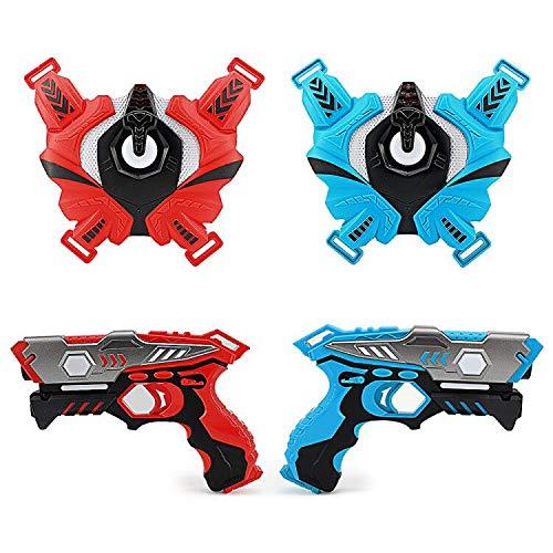 LUKAT Infrarot Laser Tag Set, 2 Pistole LaserTag-Blaster für Kinder 6+ Jungen und Mädchen, Battle Mega Pack...