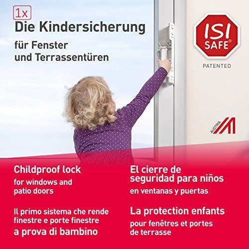 1 x ISI SAFE Fenster, Balkon- und Terrassentürensicherung, Montage ohne Werkzeug, keine Beschädigung am...