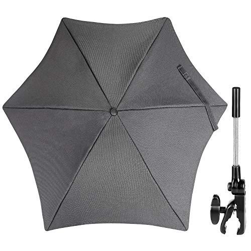 ZJRIGHT Universal Sonnenschirm Sonnenschutz für Kinderwagen & Buggy - UV Schutz 50+ / 71 cm Durchmesser -...