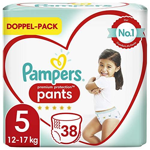 Pampers Baby Windeln Pants Größe 5 (12-17kg) Premium Protection, 38 Höschenwindeln, Komfort und Schutz Für...
