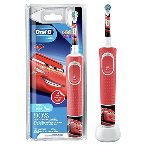 Oral-B Kids Cars Elektrische Zahnbürste für Kinder ab 3 Jahren, extra weiche Borsten, 2 Putzprogramme inkl....