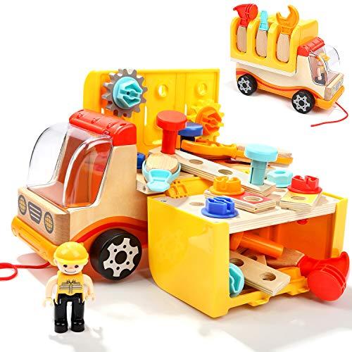 TOP BRIGHT Spielzeug Werkzeug ab 2 Jahren, Werkzeug Spielzeug Kinder Set, Holzspielzeug 2 3 Jahre Junge...