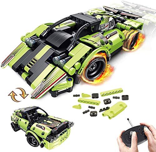 LUKAT STEM Spielzeug für Kinder 2-in-1-Fernbedienung Racer Snap Together Engineering Kits Frühes Lernen...