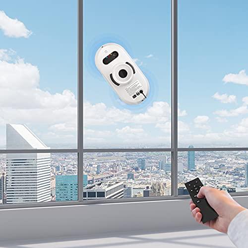 4YANG Fensterputzroboter, 5600Pa Elektrischer Fensterreinigungsroboter Flexible und Sichere Reinigung...