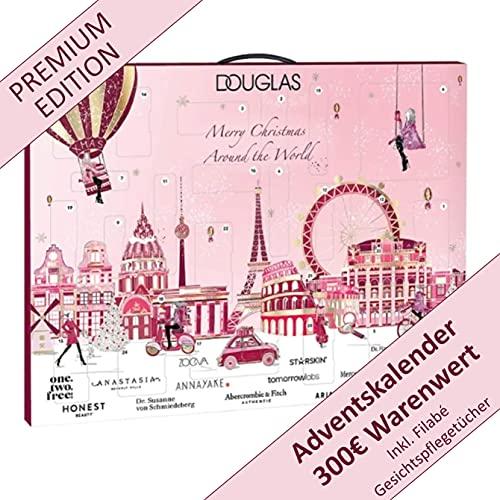 DOUGLAS Adventskalender 2021 Beauty -EXKLUSIV EDITION- Frauen + Mädchen Kosmetik Advent Kalender, Wert 200...