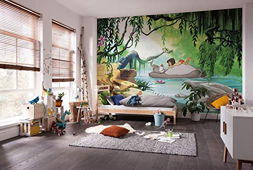 Komar Disney Fototapete   JUNGGLE Book Swimming with Baloo   Größe: 368 x 254 cm (Breite x Höhe)   Tapete,...