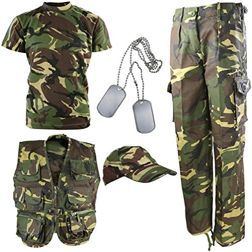 Kombat UK Kinder DPM Camouflage Explorer Armee Kit 7-8 Jahre Camouflage