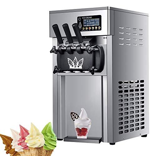 better daily life Kommerzielle 3-Geschmacks-Softeismaschine, kommerzielle Slushy-Eismaschine, 1200 W 16L-18L /...