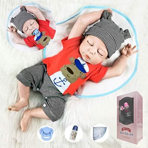 ZIYIUI 20 'Ganzkörper Silikon Vinyl Junge Puppe Reborn Baby Puppe Lebensechte Baby Neugeborenen Jungen Puppe...