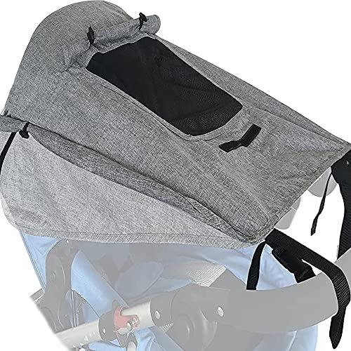IOMOY Sonnensegel Kinderwagen UV Schutz 50 Verstellbar Sonnenschutz Schuppen, Sup Double Layer Fabric mit...