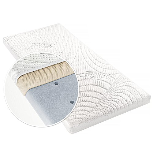 Alvi Matratze für Beistellbett & Wiege - TENCEL® & Dry - 90 x 40 cm/Funktionsbezug mit...