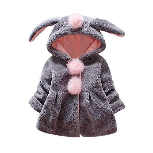 Bekleidung Longra Baby Kleinkind Mädchen winterjacke Kinderjacken Fell Warm Winter Coat Mantel Jacke Dicke...