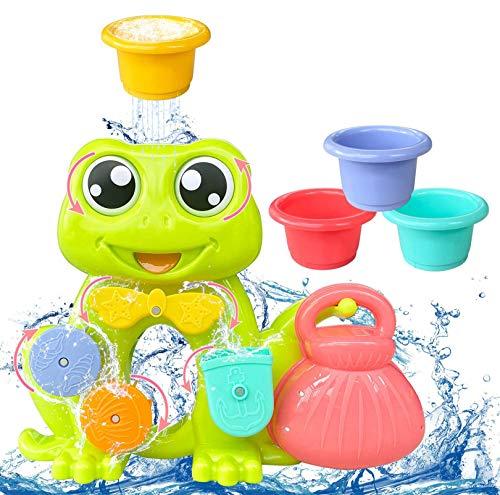 AOLUXLM Pool Spielzeug ab 1 Jahr, Badespielzeug Baby,Wasser Spielzeug Badwanne für Kleinkinder mit 4...