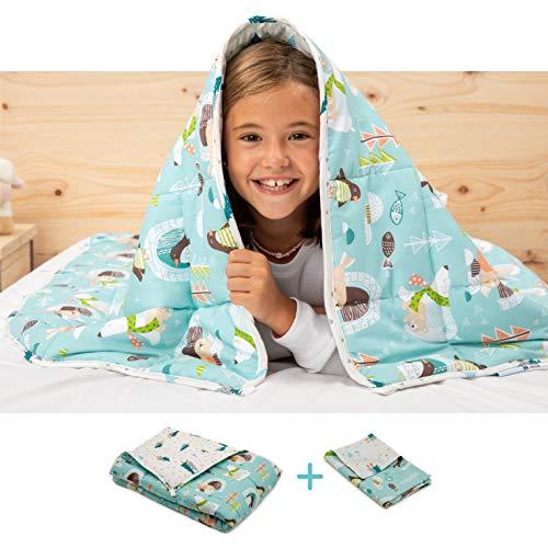 BANBALOO-Schwere Decke für Kinder, beidseitig verwendbar Kit bestehend aus einer Decke mit höherem Gewicht,...