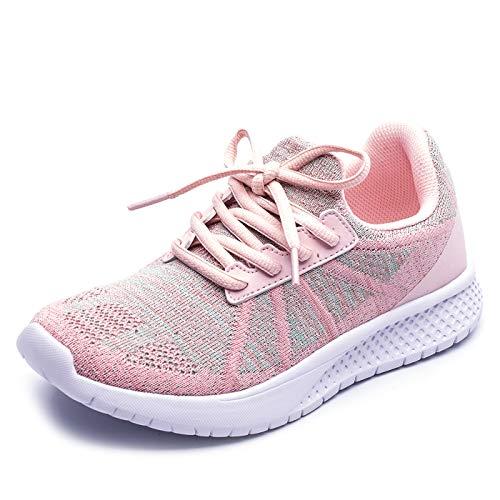 GOLAIMAN Mädchen Jungen Casual Turnschuhe Kinder Leichte Tennisschuhe Sportschuhe, rosa, EU 35.5