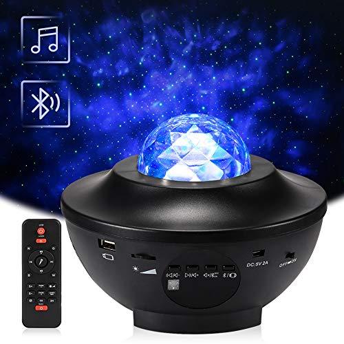 Delicacy LED Sternenlicht Projektor, Rotierende Wasserwellen Projektionslampe, Ferngesteuerte Nachtlichter,...