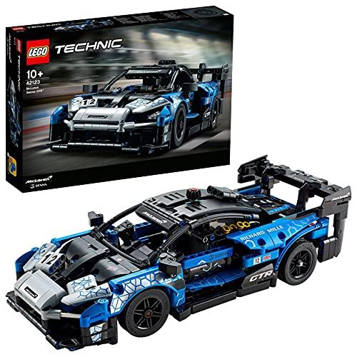 LEGO 42123 Technic McLaren Senna GTR Rennauto, Fahrzeug Bausatz, Modellauto, Geschenk für Kinder ab 10 Jahre...