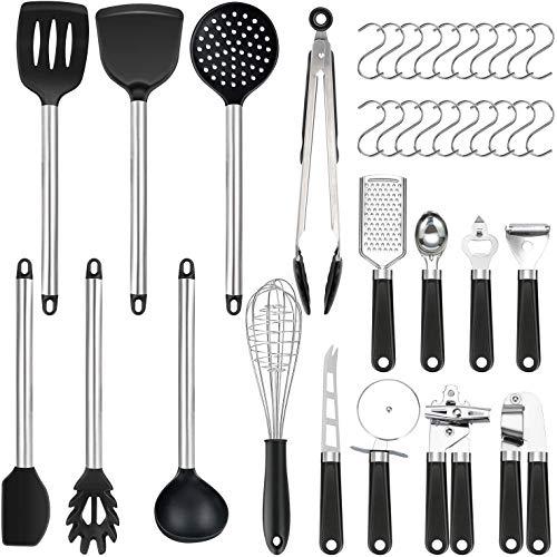 Vemingo 36er Küchenhelfer Küchenutensilien Set | Silikon Antihaft Hitzebeständiger Silikonspatel Set |...