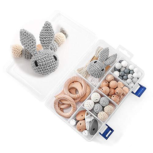 DIY Silikonperlen Schnullerkette,Baby Spielzeug Zahnen Silikon,Und Kaninchen,Perlen...