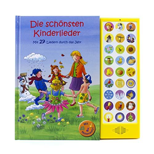 27-Button Soundbuch - Die schönsten Kinderlieder zum Mitsingen - Mit 27 Liedern durch das Jahr Hardcover-Buch...